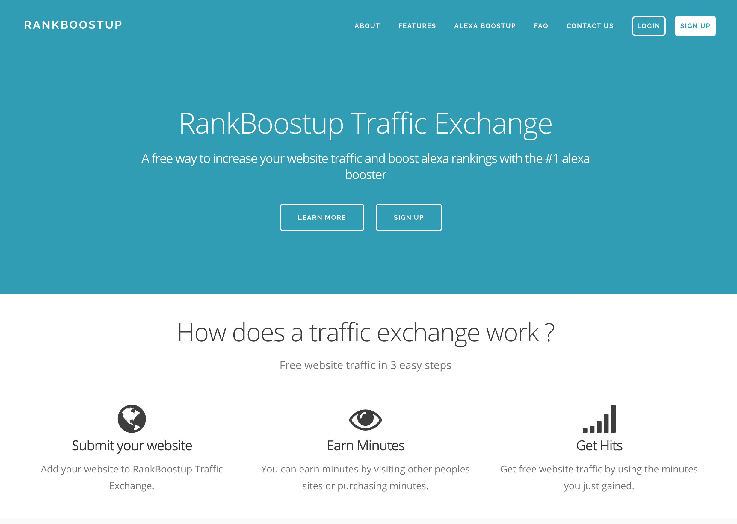 Rankboostup Traffic Exchange Service was created