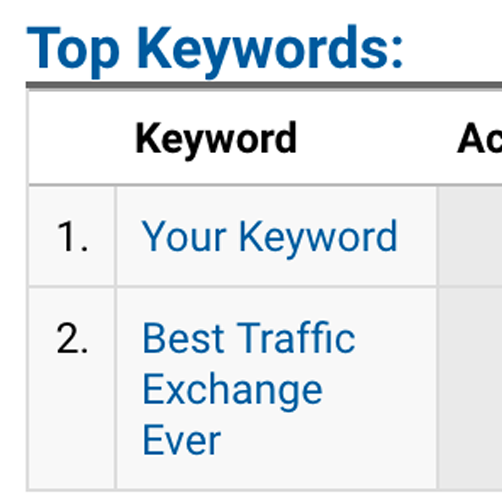 Choose Keywords on Our Autosurf Traffic Exchange